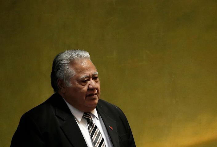 Samoan Prime Minister Tuilaepa Sailele criticized world leaders who don't believe in climate change in a recent speech. (Photo: Mike Segar/Reuters)