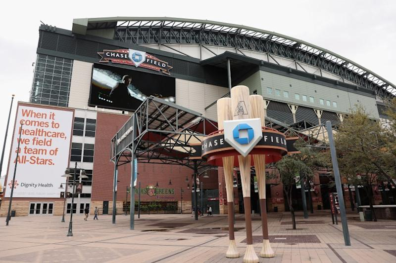 PHOENIX, ARIZONA - MARCH 12: Chase Field, home of the Arizona Diamondbacks, is shown on March 12, 2020 in Phoenix, Arizona. Many professional and college sports are canceling or postponing games due to the ongoing Coronavirus (COVID-19) outbreak. (Photo by Christian Petersen/Getty Images)