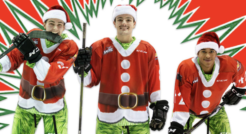 There's little doubt that the Vancouver Giants will be in the Christmas spirit for a couple upcoming games in December. (Twitter//@WHLGiants)