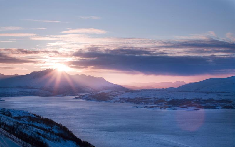 Take a cable car ride up Mount Storsteinen as part of a creative trip in Norway - Getty
