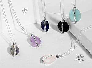Silpada Designs NEW Energy Collection. Each sterling silver necklace includes a stone that carries specific meaning to support healing and self care like Lapis for truth and wisdom or Agate to balance mind, body and spirit.