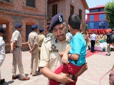 Srinagar SSP Haseeb Mughal breaks down as he carries son of cop killed in Anantnag terror attack during wreath-laying ceremony