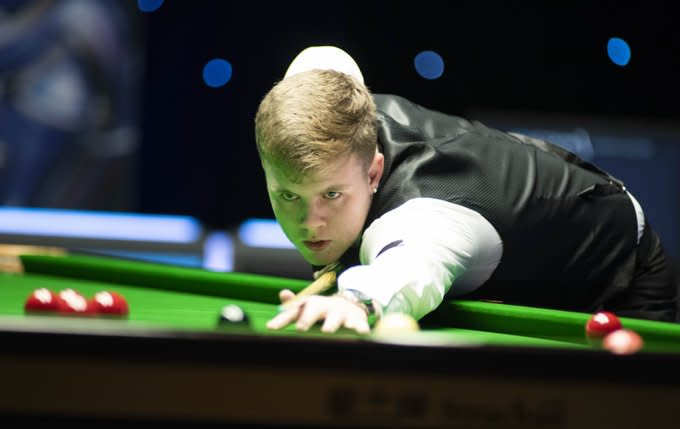 Aaron Hill 是應屆歐洲U21冠軍。 Photo Credit - World Snooker Tour