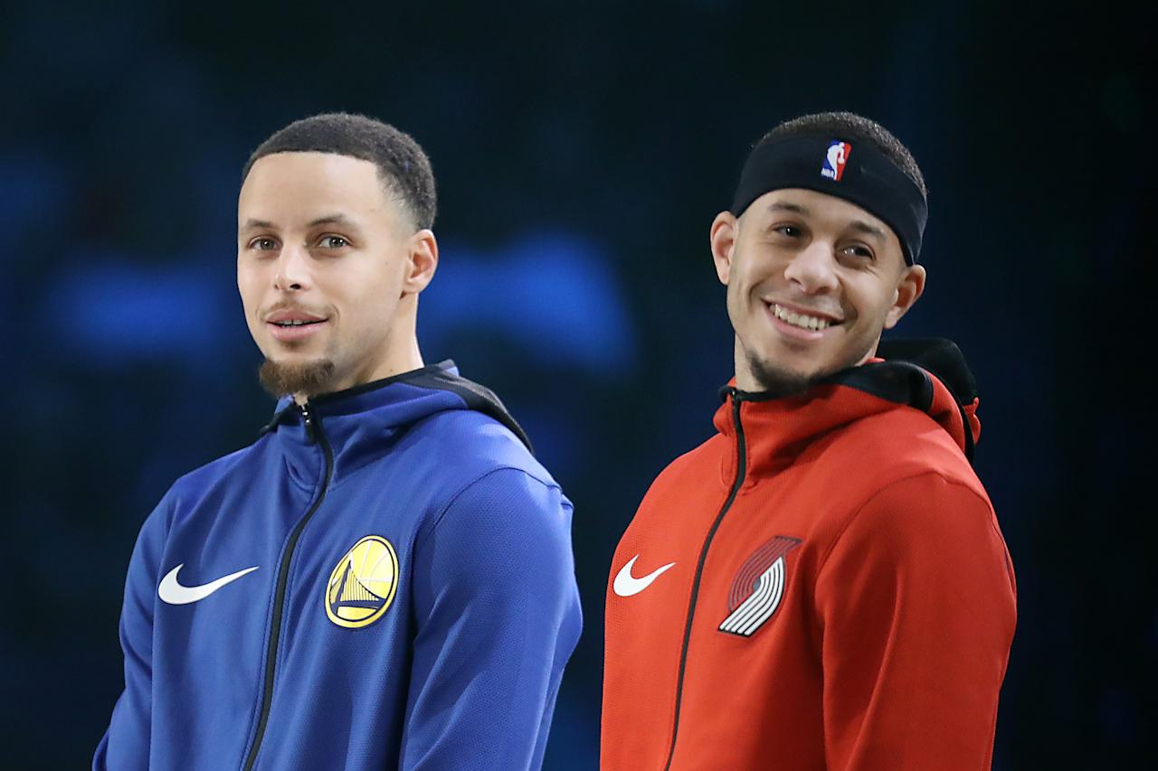 Steph and Seth Curry