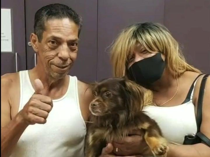 Payday reunited with family, Dwight and Melissa (Facebook / Humane Society )