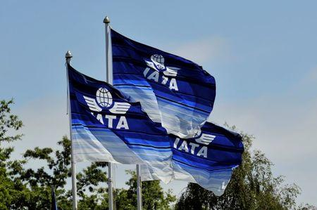 Flags are seen at the 2016 International Air Transport Association (IATA) Annual General Meeting and World Air Transport Summit in Dublin