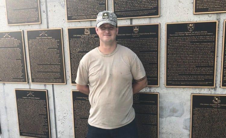 Army veteran Jon Roth, 30, served in Iraq and said he feels a special connection with those who fought at D-Day.