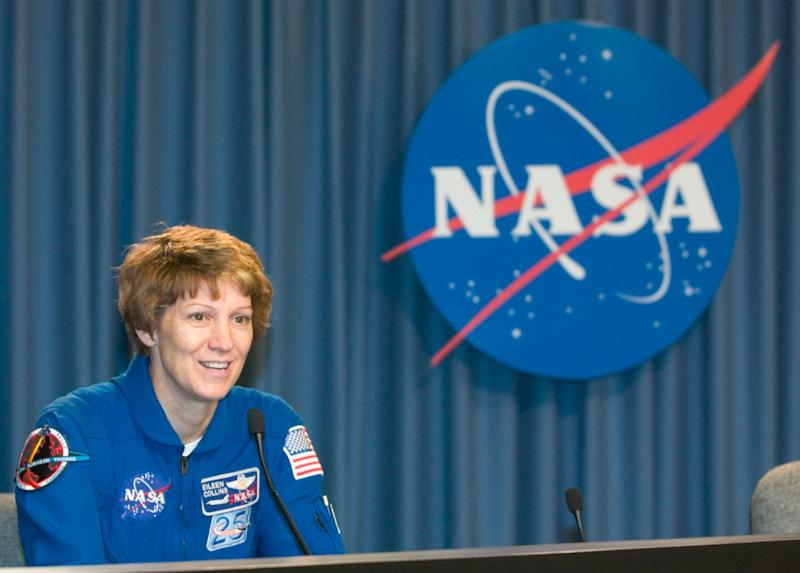 Space Shuttle Discovery commander Eileen Collins