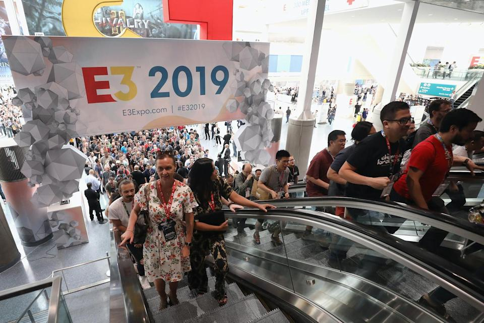 LOS ANGELES, CALIFORNIA - JUNE 11:   Game enthusiasts and industry personnel arrive to the E3 Video Game Convention at the Los Angeles Convention Center on June 11, 2019 in Los Angeles, California. (Photo by Christian Petersen/Getty Images)