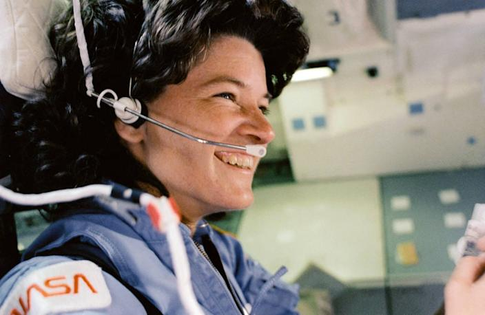 Sally Ride became the first American woman to launch into space on June 18, 1983 on the space shuttle Challenger.