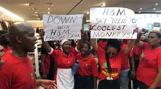 EEF protestors gather at a H&M in Cape Town. Source: Twitter/ WesternCapeofEFF