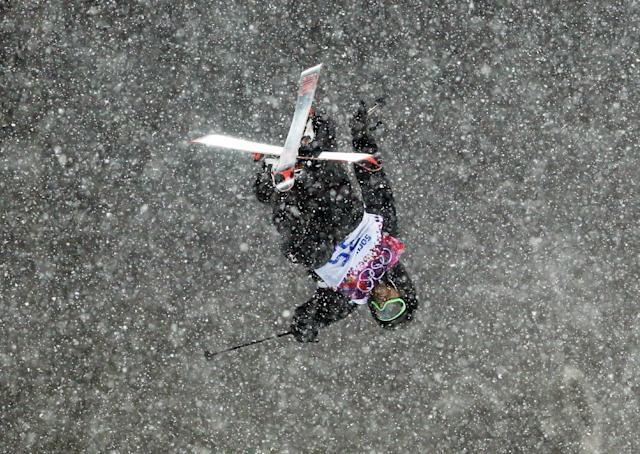 New Zealand's Josiah Wells gets air during the men's ski halfpipe final at the Rosa Khutor Extreme Park, at the 2014 Winter Olympics, Tuesday, Feb. 18, 2014, in Krasnaya Polyana, Russia. (AP Photo/Sergei Grits)