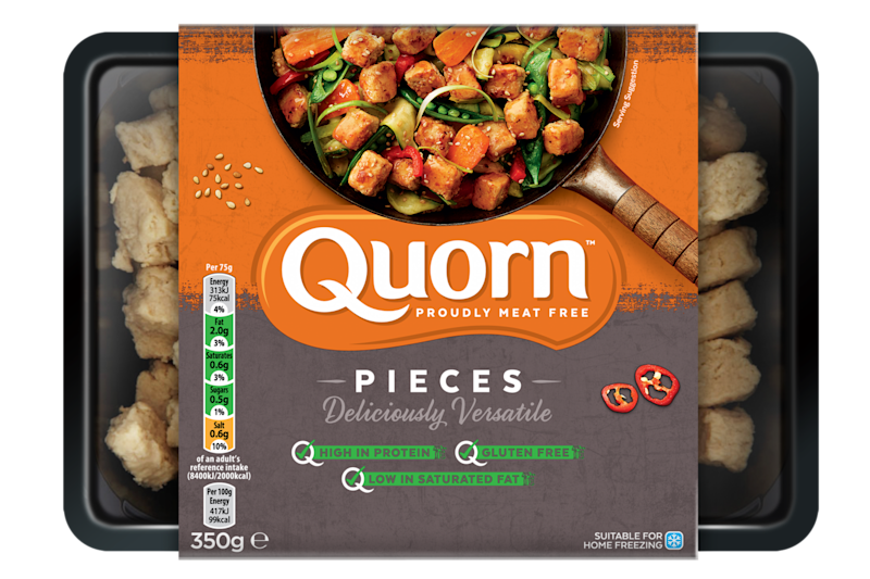 The majority of Quorn's meat free range will no longer be sold in black plastic trays from the end of June (Quorn)