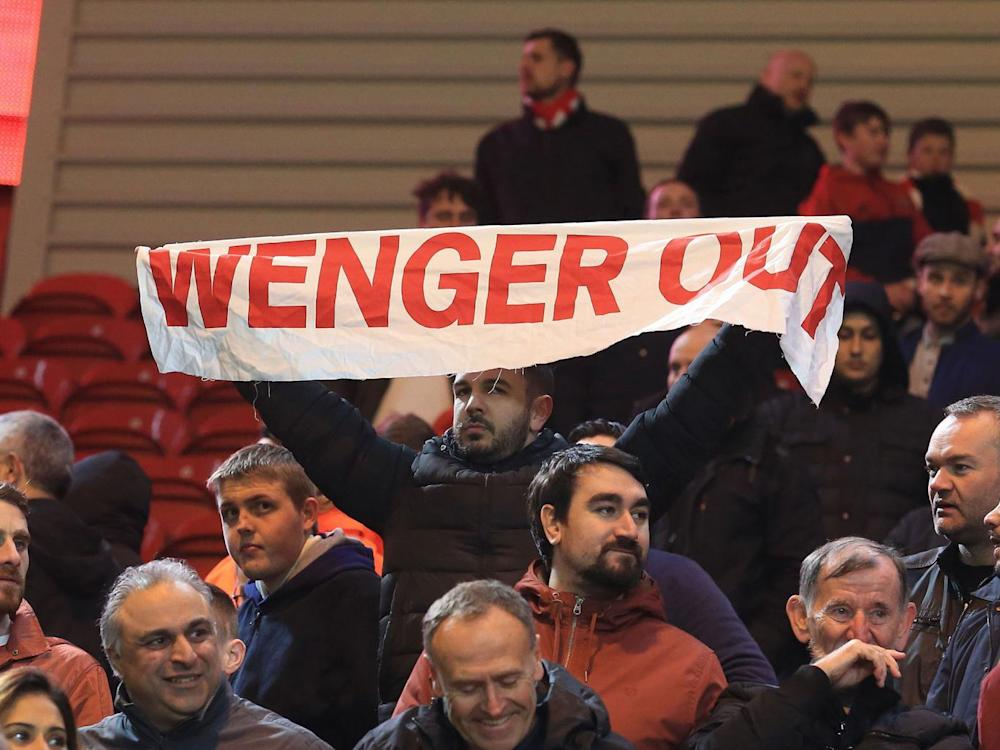Arsenal fans have protested against Wenger's continuation as manager (Getty)