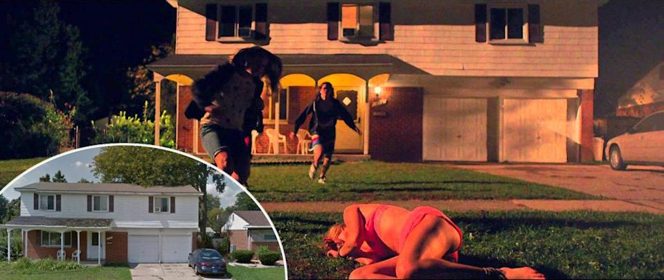 <p>The anxious protagonist of this 2015 atmospheric horror movie did a lot of her stewing, screaming, and running at this real home in Sterling Heights, Michigan. </p>