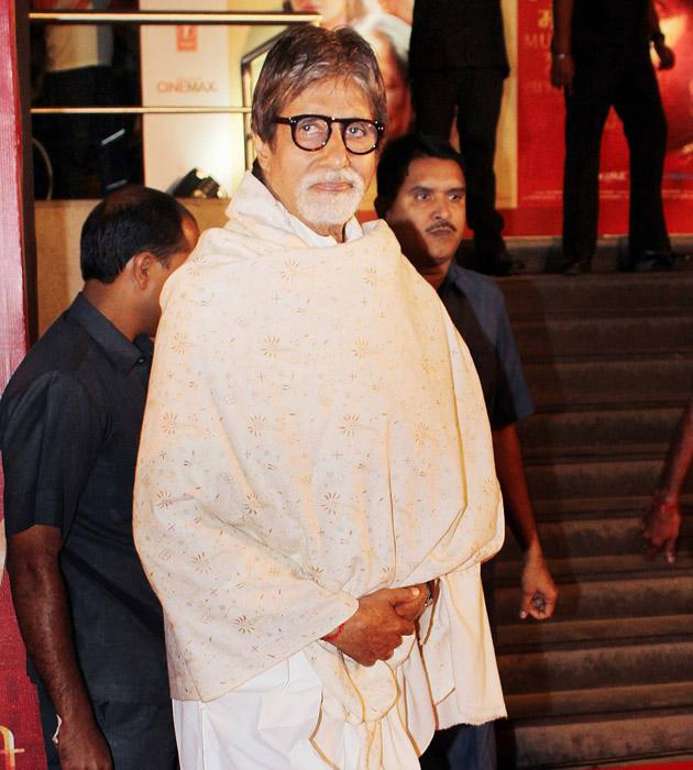 Amitabh Bachchan arrives for the premiere