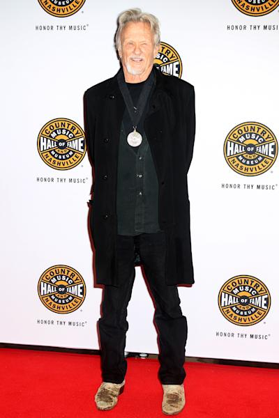 Artist Kris Kristofferson on the red carpet of the Country Music Hall of Fame Medallion Ceremony at the Country Music Hall of Fame and Museum on Sunday, Oct. 16, 2016 in Nashville, Tenn. (Photo by Laura Roberts/Invision/AP)