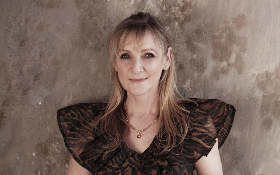 The actress Lesley Sharp will soon appear in a new Channel 4 police drama - Portrait: Joseph Sinclair. Makeup: Justine Jenkins. Hair: Shukeel Murtaz