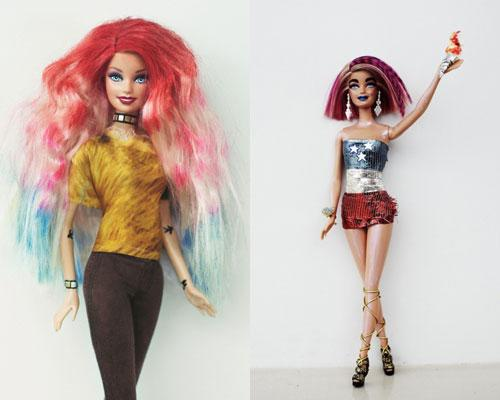 Barbie for BLEACH rainbow hair looks