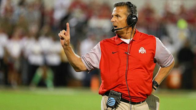 Ohio State's Urban Meyer joined one of the best new traditions in college football on Saturday.