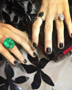 <p>Blake's a big fan of statement jewellery, but her 12-carat oval engagement ring is no doubt her most sentimental piece. <em>[Photo: Instagram/Blake Lively]</em> </p>
