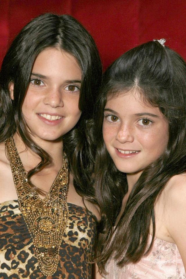 <p>Kylie and Kendall Jenner looking adorable and fresh-faced back in 2007 around the time of the <em>Keeping up With The Kardashians </em>premiere. </p>