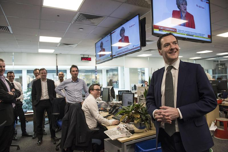 Incoming: George Osborne in the Evening Standard newsroom: Lucy Young