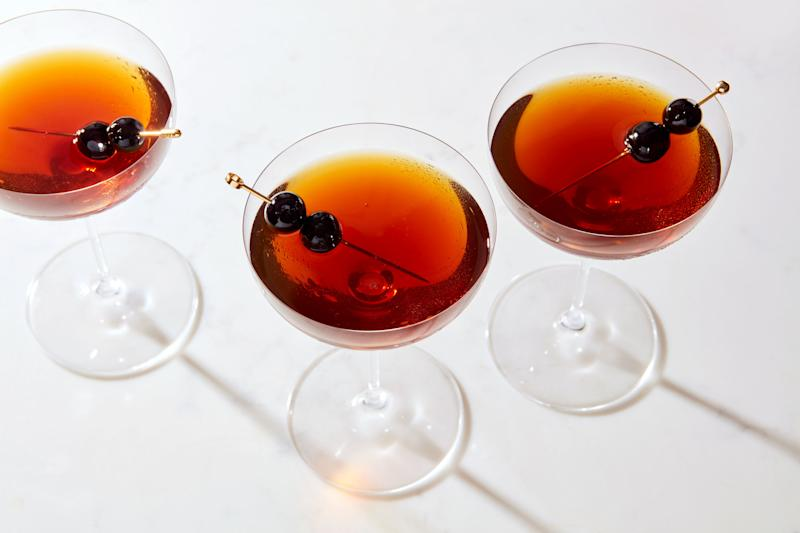 When you split the vermouth in your Manhattan, this delicious drink is what you get.