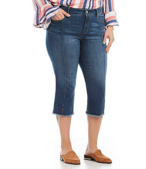 Code Bleu Chelsea Novelty Frayed Hem Capri Jeans (Photo: Dillard's)