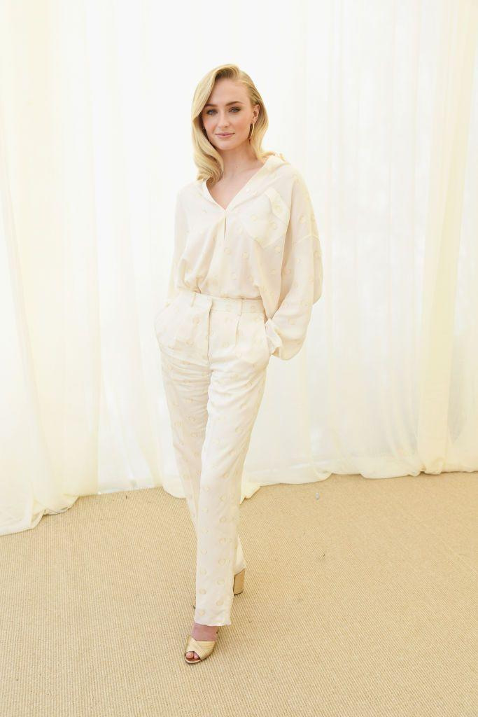 <p>Attending the Roc-Nation pre-Grammys brunch hosted by Jay-Z in LA, Turner wore a crisp cream tonal shirt and trousers by Victoria Beckham.</p>