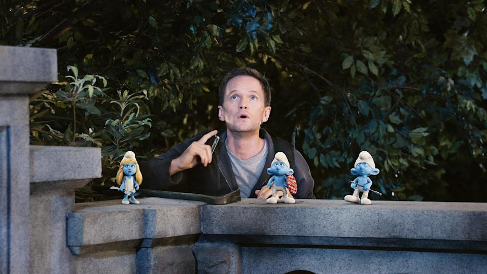 """<p><strong>What it's about:</strong> """"When evil Gargamel tries to capture them, the Smurfs flee their woodland home, pass through a magic portal and find themselves stranded in New York.""""</p> <p><a href=""""https://www.netflix.com/title/70141972"""" class=""""link rapid-noclick-resp"""" rel=""""nofollow noopener"""" target=""""_blank"""" data-ylk=""""slk:Stream The Smurfs on Netflix!""""> Stream <strong>The Smurfs</strong> on Netflix!</a></p>"""
