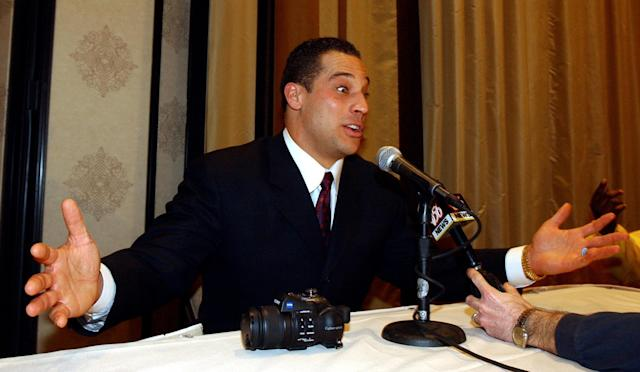 Christian Fauria was suspended for mocking an Asian accent on WEEI. (AP Photo)