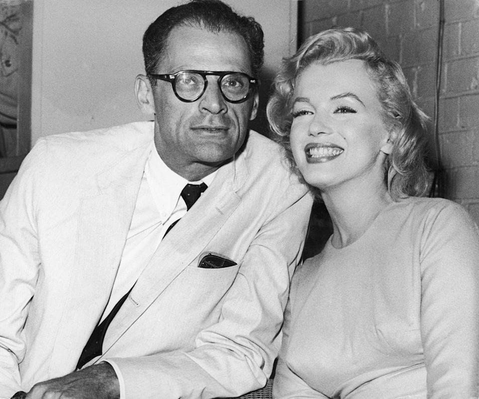 """<p>Actress Marilyn Monroe was married <a href=""""https://www.biography.com/actor/marilyn-monroe"""" rel=""""nofollow noopener"""" target=""""_blank"""" data-ylk=""""slk:three times"""" class=""""link rapid-noclick-resp"""">three times</a>: police officer James Dougherty (1942 to 1946); baseball player Joe DiMaggio (1954) and playwright Arthur Miller (1956 to 1961). </p>"""