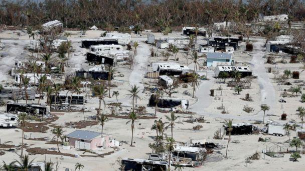 PHOTO: This photo shows damaged homes in the aftermath of Hurricane Irma in Sunshine Key, Fla., Sept. 13, 2017. (Mike Stocker/South Florida Sun-Sentinel via AP)