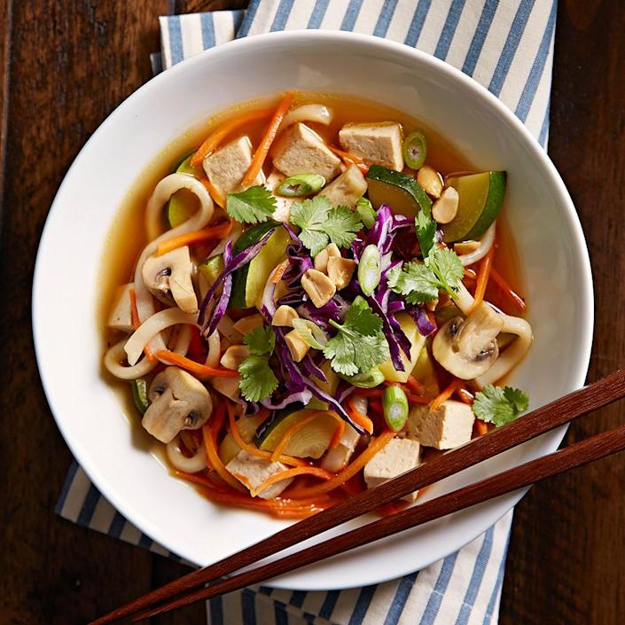 <p>This Asian-inspired Udon Noodle Bowl can be ready in just 30 minutes. It's a perfect weeknight meal, quick and incredibly satisfying.</p>