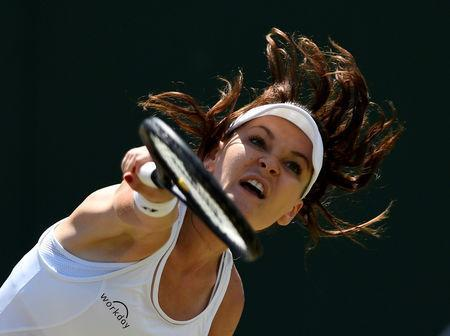 FILE PHOTO: Tennis - Wimbledon - London, Britain - July 10, 2017 Poland's Agnieszka Radwanska in action during her fourth round match against Russia's Svetlana Kuznetsova REUTERS/Tony O'Brien/File Photo