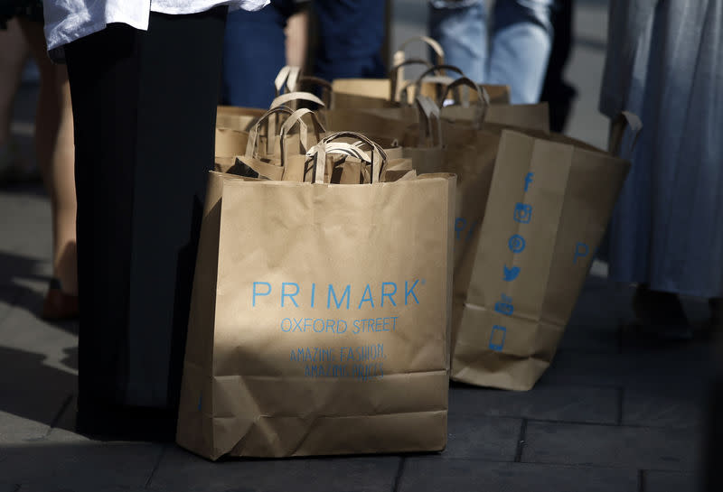 FILE PHOTO: Shopping bags from a Primark store are seen in Oxford street, in London, Britain August 14, 2016. REUTERS/Peter Nicholls