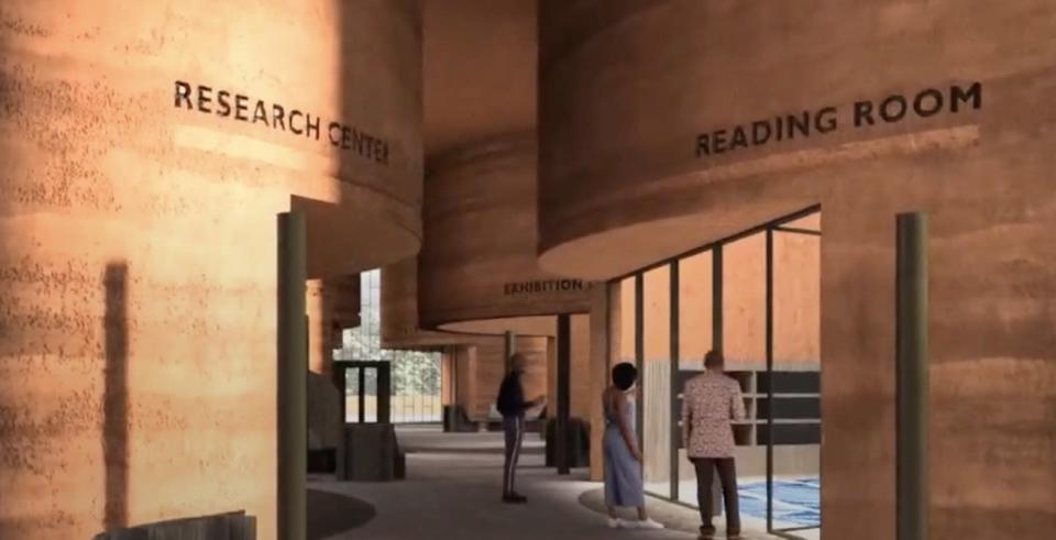 Another view of the future library near Johannesburg.