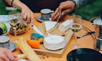 <p>It's easy: Stock up on a bunch of your fave wines from the sale rack, get your glasses ready, buy some of your favorite cheeses, and pretend like you're literally in Paris. (Alternative option: Take a virtual wine and cheese pairing class because, well, easier.) </p>
