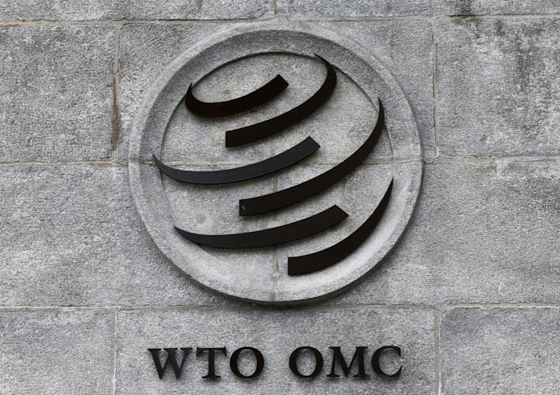 A World Trade Organization (WTO) logo is pictured on their headquarters in Geneva, Switzerland, June 3, 2016. REUTERS/Denis Balibouse