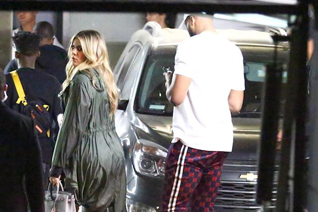 Khloé and Tristan meet up with Kendall Jenner for a night out clubbing. (Photo: Backgrid)