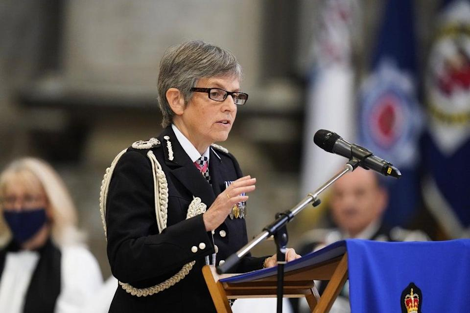 Metropolitan Police Commissioner Cressida Dick speaks during the National Police Memorial Day Service at Lincoln Cathedral, Lincoln (Danny Lawson/PA) (PA Wire)
