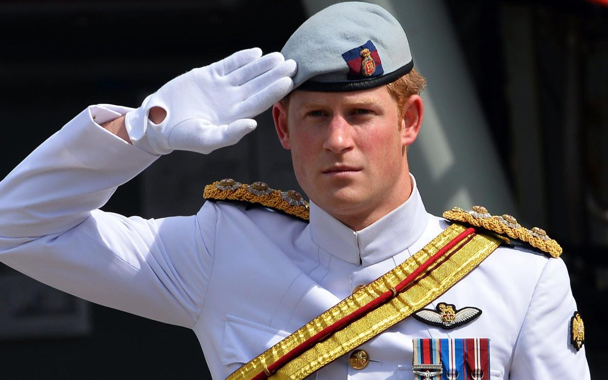 <span>Prince Harry left the British Army in May 2015 after 10 years' service that saw him fight on the front line in Afghanistan twice</span> <span>Credit: &nbsp;AFP/Getty Images </span>