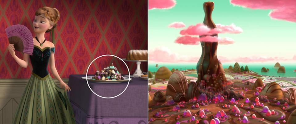"""Anna's affinity for chocolate summons sweet treats all the way from the land of Sugar Rush in """"Wreck-It Ralph."""""""