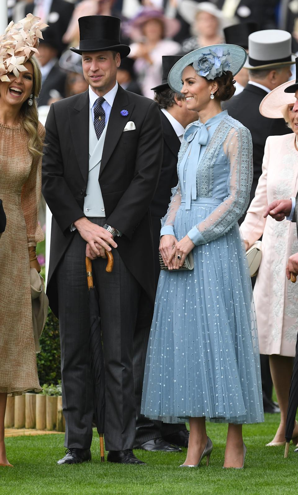 <p>The couple were every inch royal glamour in 2019 at Royal Ascot, one of the biggest royal events of the year. It was only the third time the duchess had attended the racing event. (PA Images)</p>