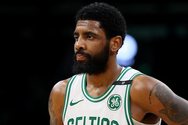 Kyrie Irving said he failed his Boston Celtics teammates in 2018-19 after the death of his grandfather. (Photo by Maddie Meyer/Getty Images)