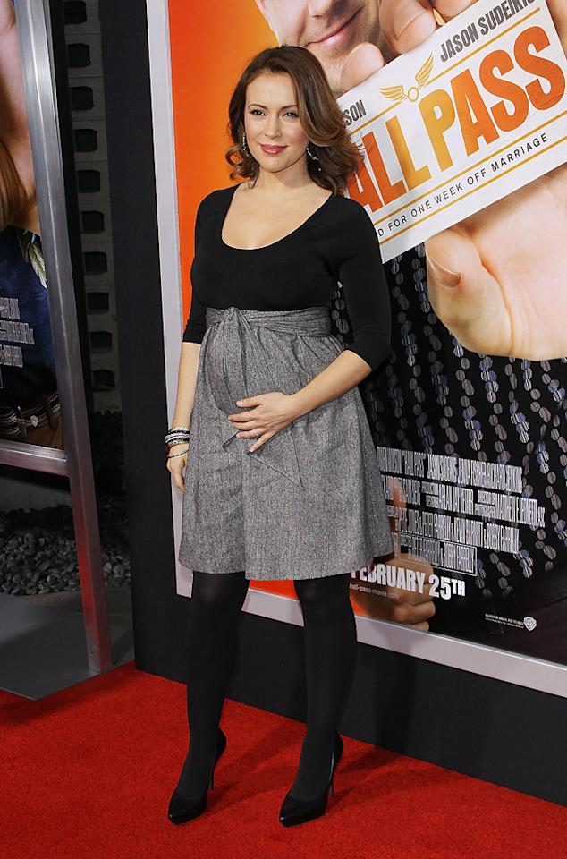 """<a href=""""http://movies.yahoo.com/movie/contributor/1800043966"""">Alyssa Milano</a> attends the Los Angeles premiere of <a href=""""http://movies.yahoo.com/movie/1810133702/info"""">Hall Pass</a> on February 23, 2011."""