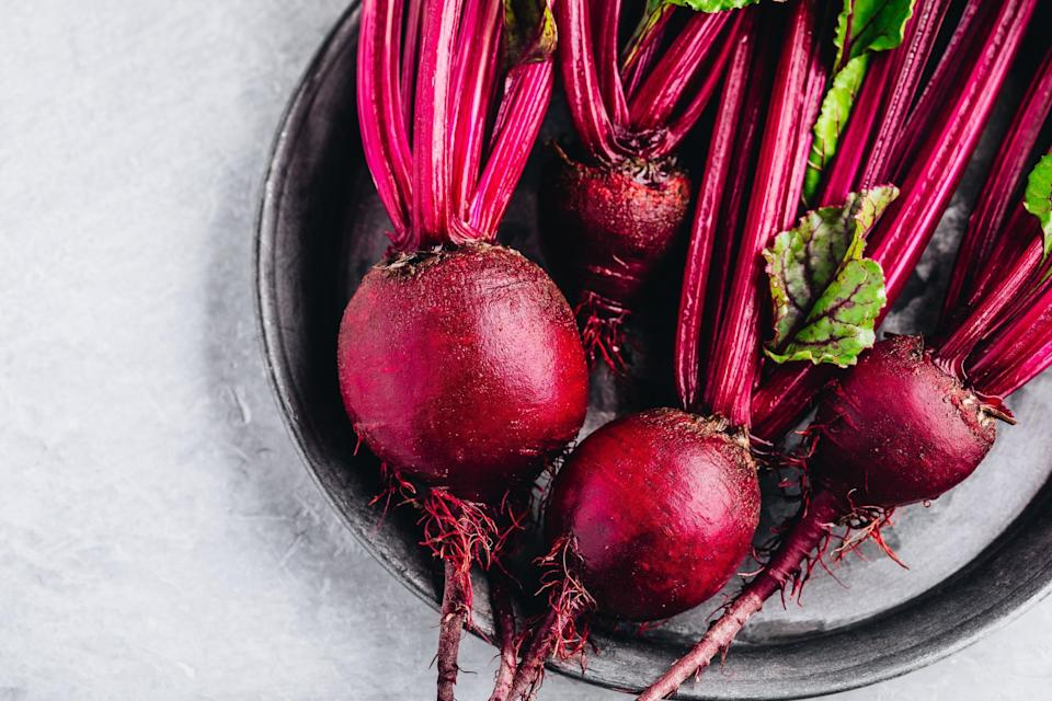 """<p>Beets come into season in the summer months and stay in season throughout the fall. Earthy with the potential to be sweet, <a href=""""https://www.thedailymeal.com/recipes/roasted-beets-recipe-0?referrer=yahoo&category=beauty_food&include_utm=1&utm_medium=referral&utm_source=yahoo&utm_campaign=feed"""" rel=""""nofollow noopener"""" target=""""_blank"""" data-ylk=""""slk:beets do best when roasted simply in the oven"""" class=""""link rapid-noclick-resp"""">beets do best when roasted simply in the oven</a>, though you can certainly use them to <a href=""""https://www.thedailymeal.com/beet-soup-0-recipe?referrer=yahoo&category=beauty_food&include_utm=1&utm_medium=referral&utm_source=yahoo&utm_campaign=feed"""" rel=""""nofollow noopener"""" target=""""_blank"""" data-ylk=""""slk:make soup"""" class=""""link rapid-noclick-resp"""">make soup</a>, <a href=""""https://www.thedailymeal.com/recipes/roasted-beets-and-goat-cheese-pomegranate-molasses-recipe?referrer=yahoo&category=beauty_food&include_utm=1&utm_medium=referral&utm_source=yahoo&utm_campaign=feed"""" rel=""""nofollow noopener"""" target=""""_blank"""" data-ylk=""""slk:salads"""" class=""""link rapid-noclick-resp"""">salads</a>, <a href=""""https://www.thedailymeal.com/recipes/beetroot-sauce-recipe?referrer=yahoo&category=beauty_food&include_utm=1&utm_medium=referral&utm_source=yahoo&utm_campaign=feed"""" rel=""""nofollow noopener"""" target=""""_blank"""" data-ylk=""""slk:sauce"""" class=""""link rapid-noclick-resp"""">sauce</a> or healthy <a href=""""https://www.thedailymeal.com/best-recipes/red-beet-chips-garlic-parsley-dip?referrer=yahoo&category=beauty_food&include_utm=1&utm_medium=referral&utm_source=yahoo&utm_campaign=feed"""" rel=""""nofollow noopener"""" target=""""_blank"""" data-ylk=""""slk:chips"""" class=""""link rapid-noclick-resp"""">chips</a>.</p>"""