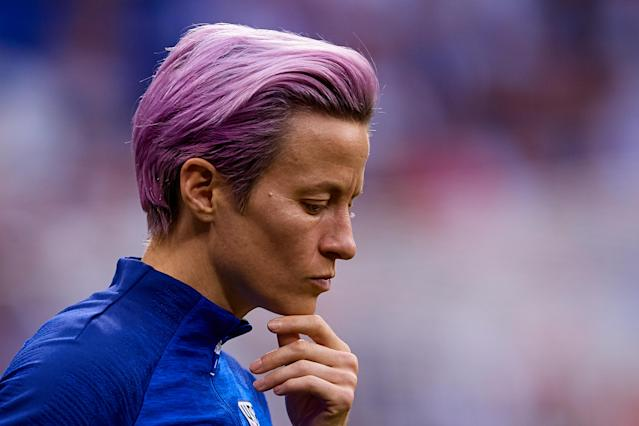 Megan Rapinoe offered some thoughtful words on her values and what it means to be an American. (Getty)