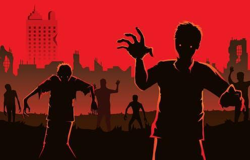 """<span class=""""caption"""">Beware of zombie companies. </span> <span class=""""attribution""""><a class=""""link rapid-noclick-resp"""" href=""""https://www.shutterstock.com/image-vector/zombie-walking-out-abandoned-city-silhouettes-462287122"""" rel=""""nofollow noopener"""" target=""""_blank"""" data-ylk=""""slk:solar22 via Shutterstock"""">solar22 via Shutterstock</a></span>"""